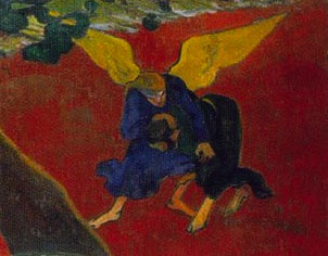 "Detail from Paul Gauguin's ""The Vision after the Sermon"""