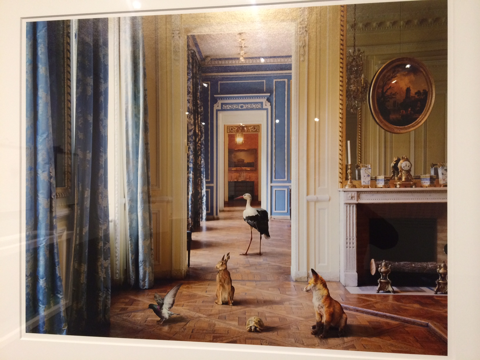 "Karen Knorr, ""Ledoux's Reception [Carnavalet]"" from the Fables series"