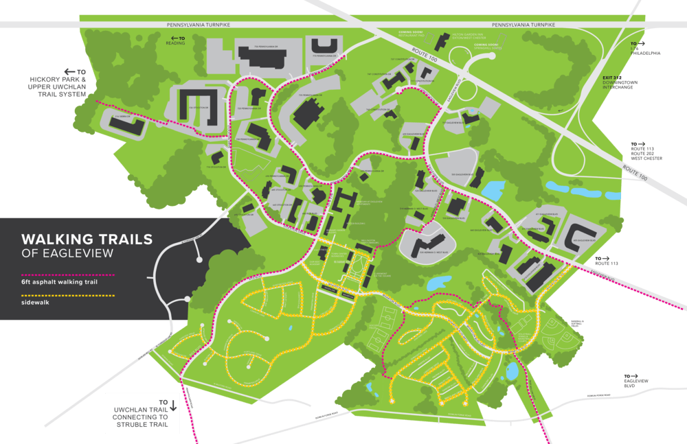 Eagleview Walking Trails Map