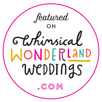 whimsical wonderland wedding feature badge