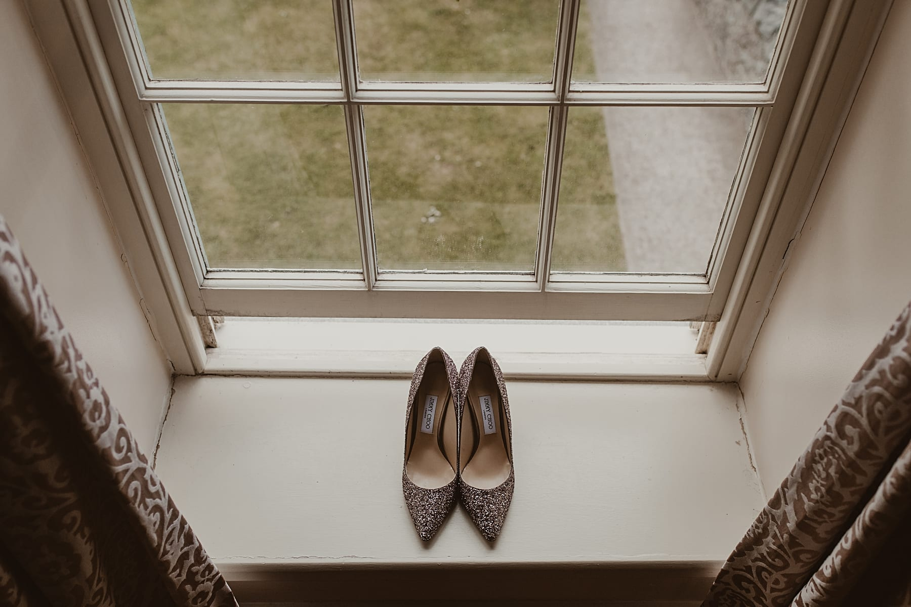 Jimmy Choo Shoes on window