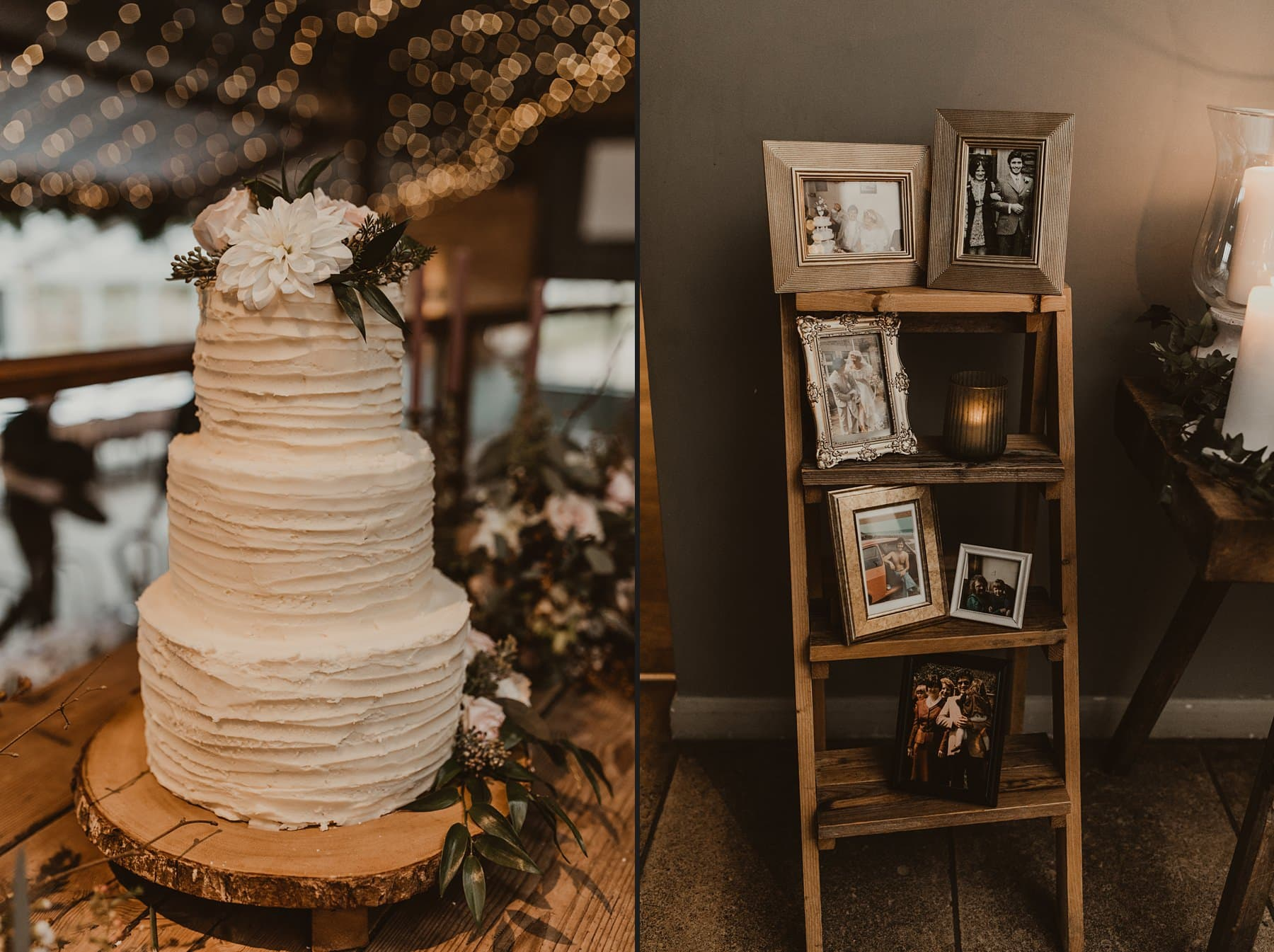wedding cake and memory ladder