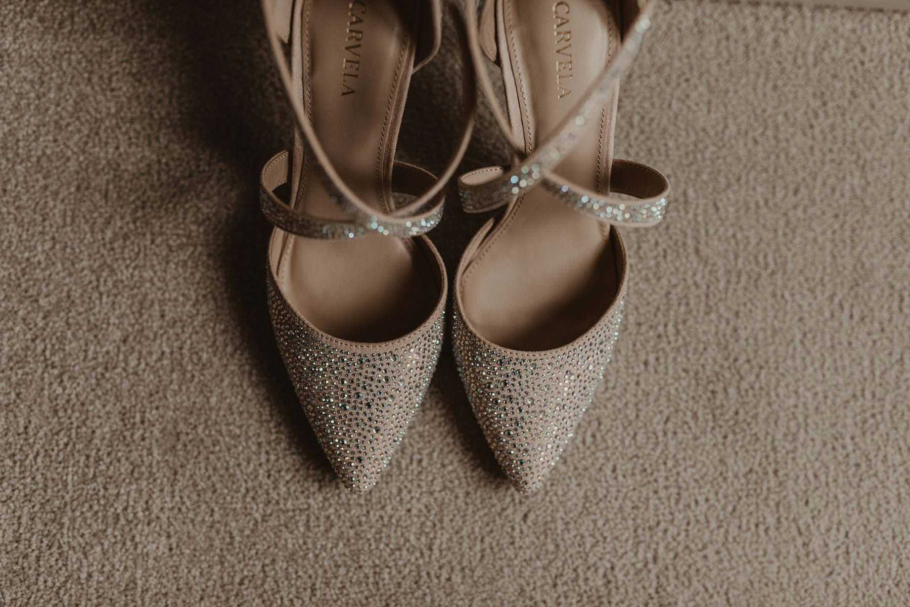 pair of bride's shoes