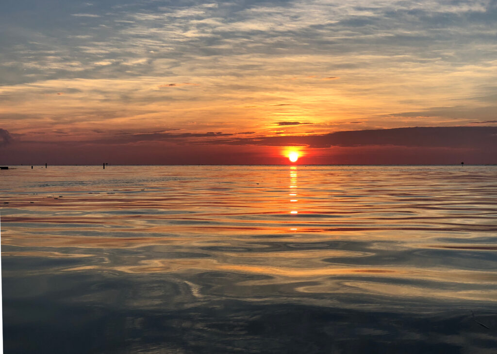 Taking in a sunset while cruising along on the Chesapeake Bay can't be beat!