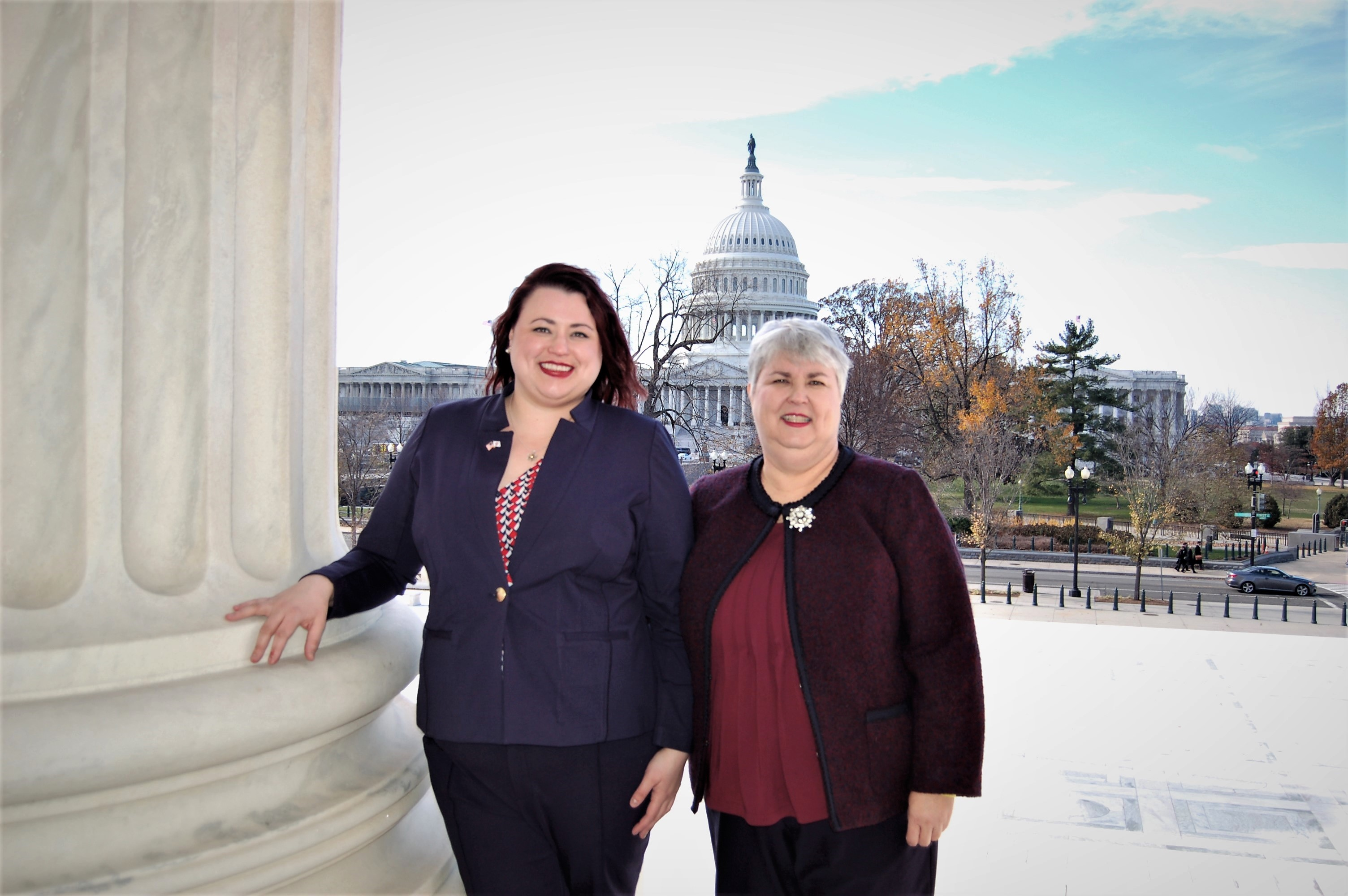 Donna J. Bays and Jennifer Bays Beinart after their admission to the US Supreme Court