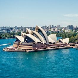 Sydney Harbour bridge and Opera House
