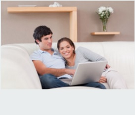 Couple enjoying flooring