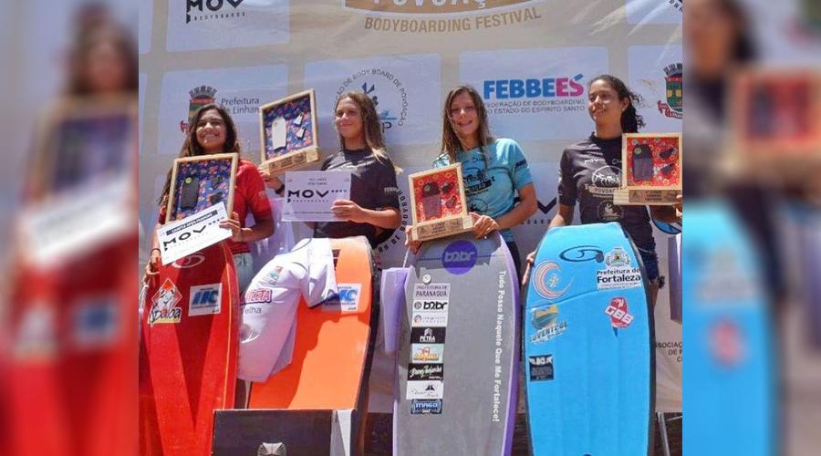 Isa Nunes conquista medalha de prata no Circuito Brasileiro de Bodyboarding - Agora Litoral