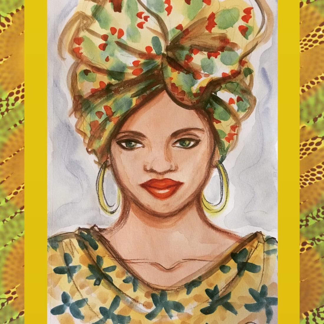 Example of Shireen's Artwork: Golden Queen