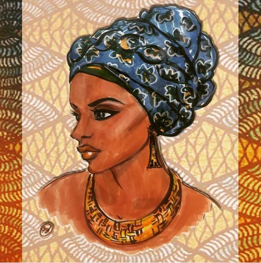 Example of Shireen's Artwork: Nubian Queen