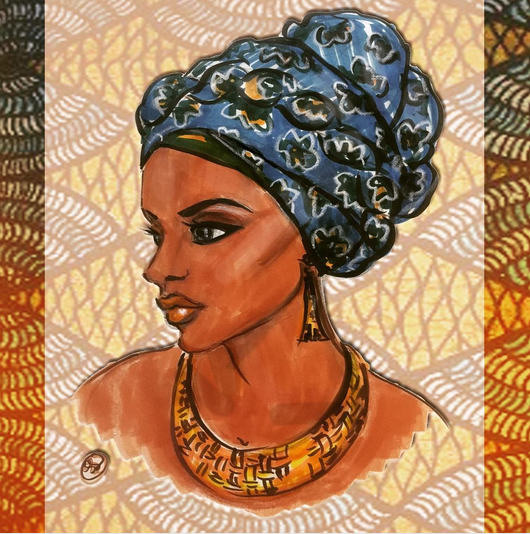 Example of Shireen's Artwork: Nubian Queen