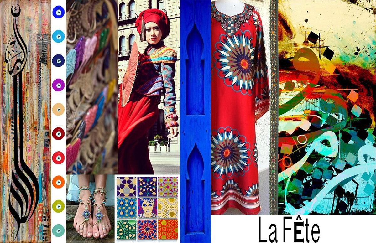 Shireen Soliman Fashion Design Presentation Arabic Motifs
