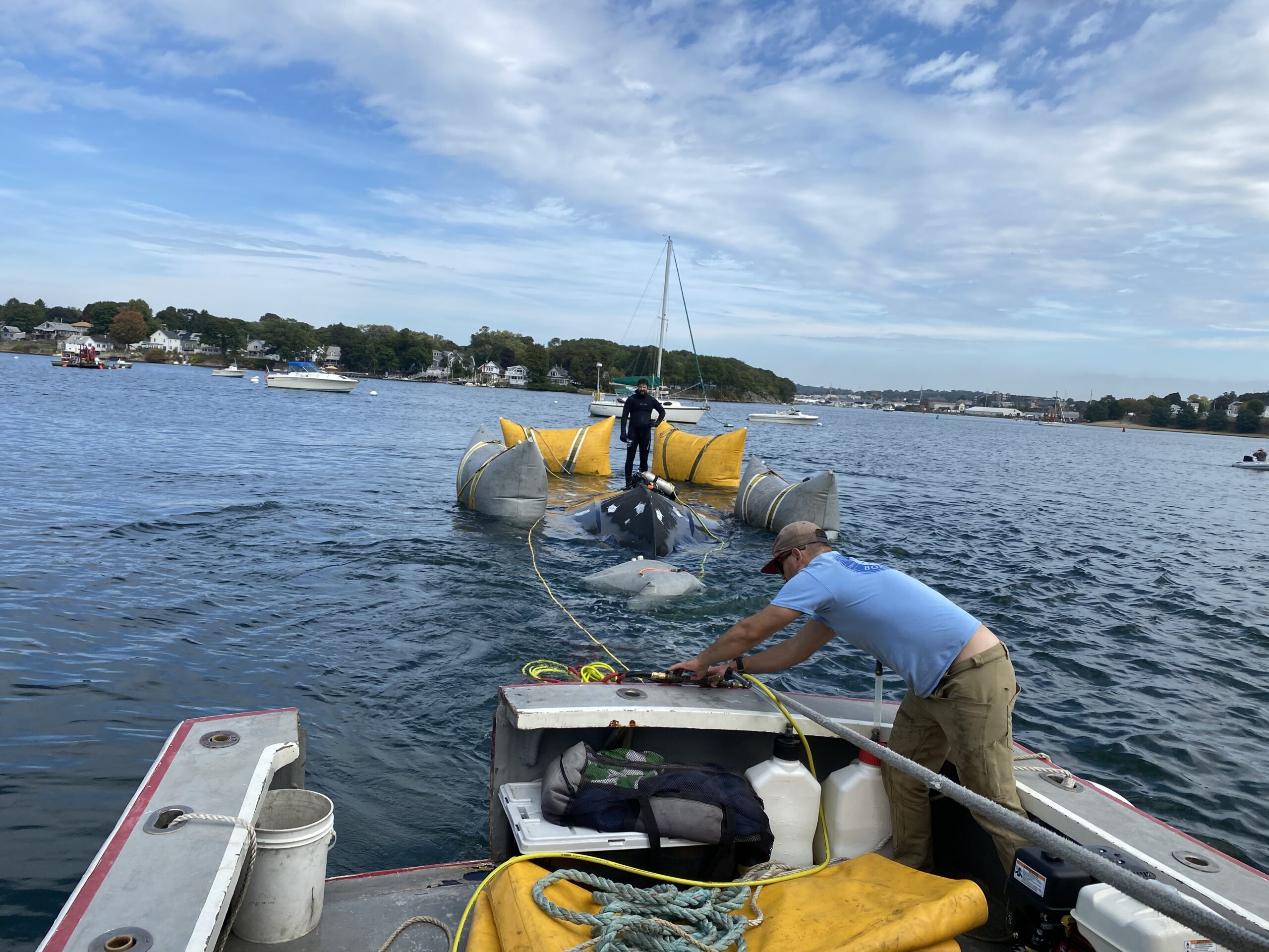 Boat Fire Wreck Removal - Beverly MA