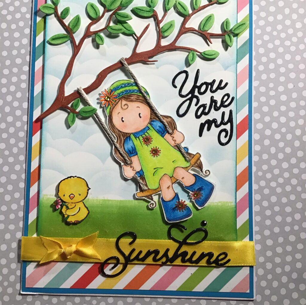 Swing – A- Long Card    Prisma Color Pencils,            on Staples 100lb Cardstock.