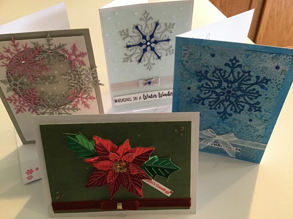 Christmas SnowFlakes And A Poinsettia