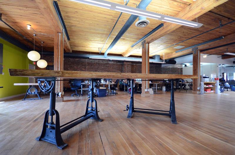 New Living-Edge Fir Slab Table