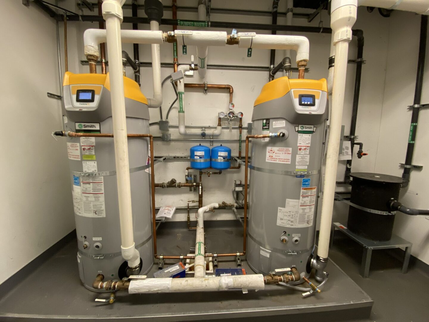 two water heaters cyclone