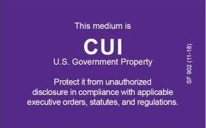 Controlled Unclassified Information (CUI) Label