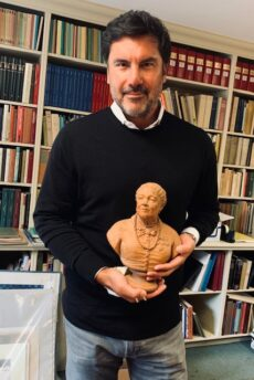 Billy Peterson with Mary Seacole bust