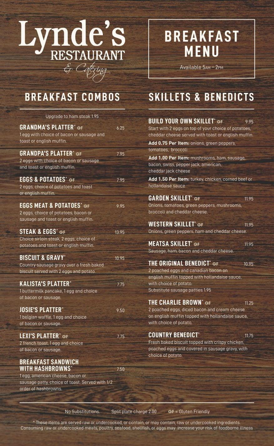 Lyndes Breakfast Menu 001