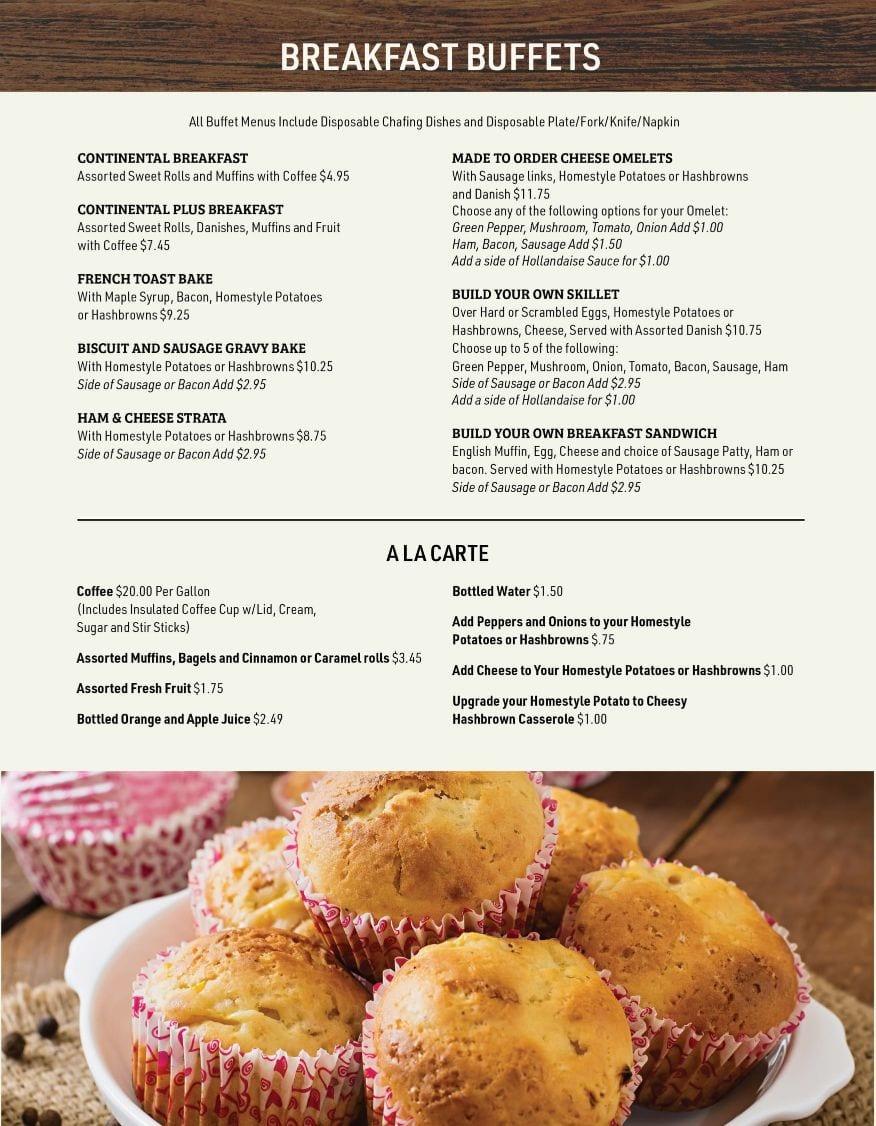 Lynde's Catering Booklet 2021-03 page 2 BREAKFAST MENU A LA CARTE-1