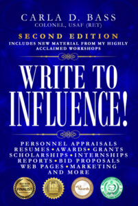 Cover of 2nd edition of multiple award-winning book Write to Influence!