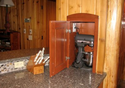 Downes Cabin Custom Kitchen Appliance Cubby