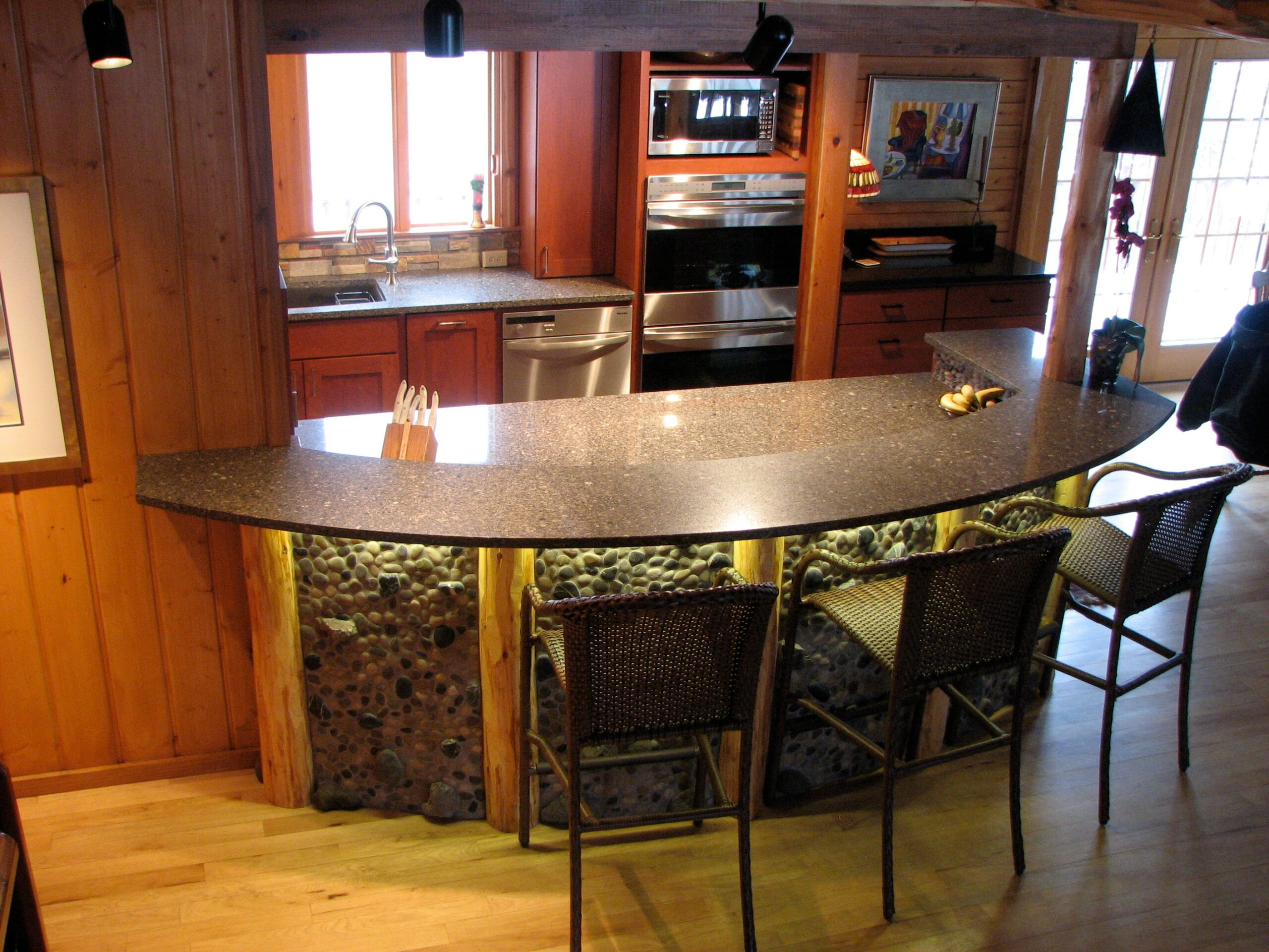 Downes Cabin Custom Kitchen Bar Height Stools and Seating