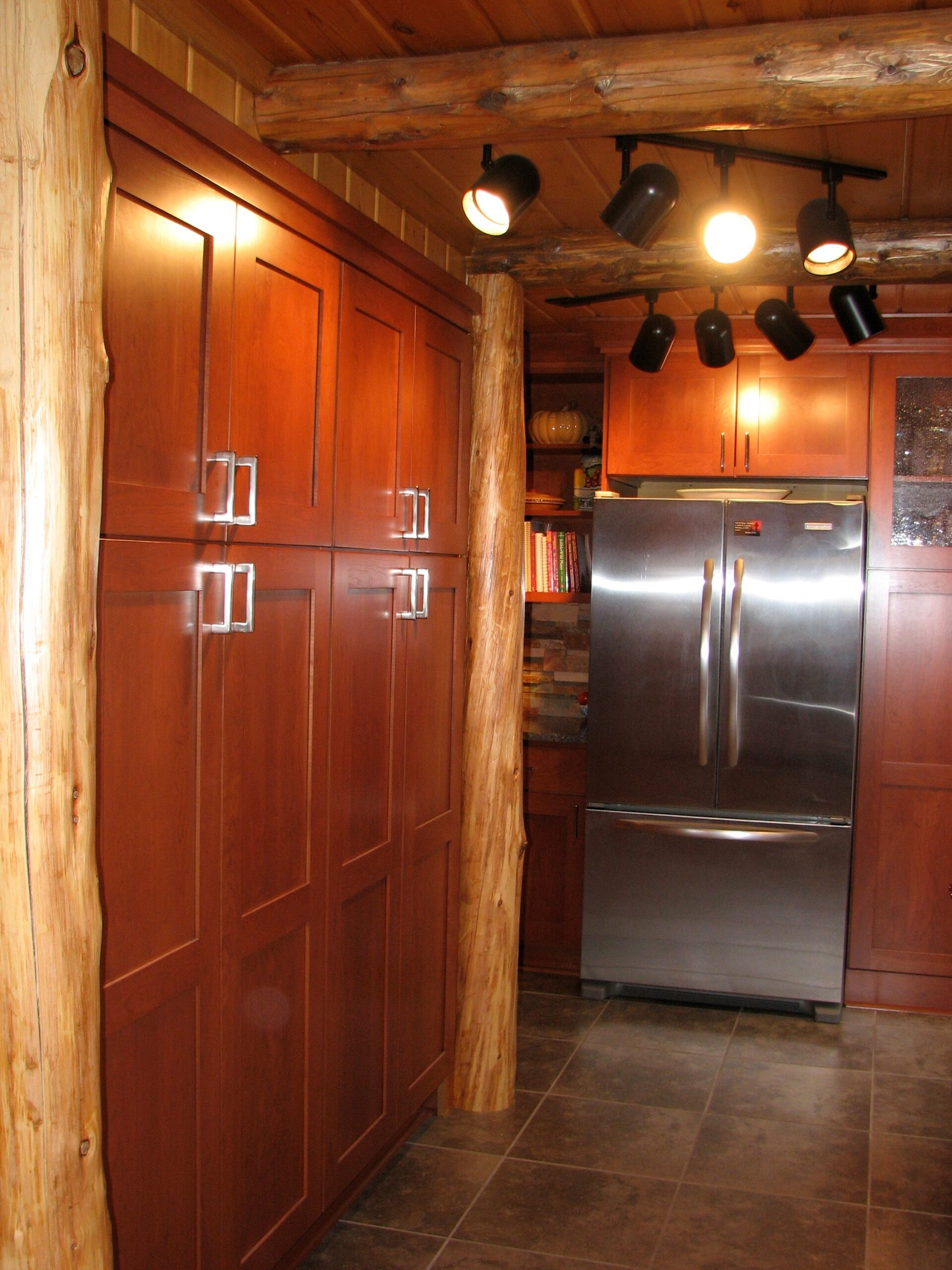 Downes Cabin Custom Kitchen Floor to Ceiling Cabinets