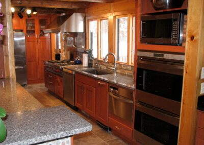 Downes Cabin Custom Kitchen Modern Stainless Steel Appliances