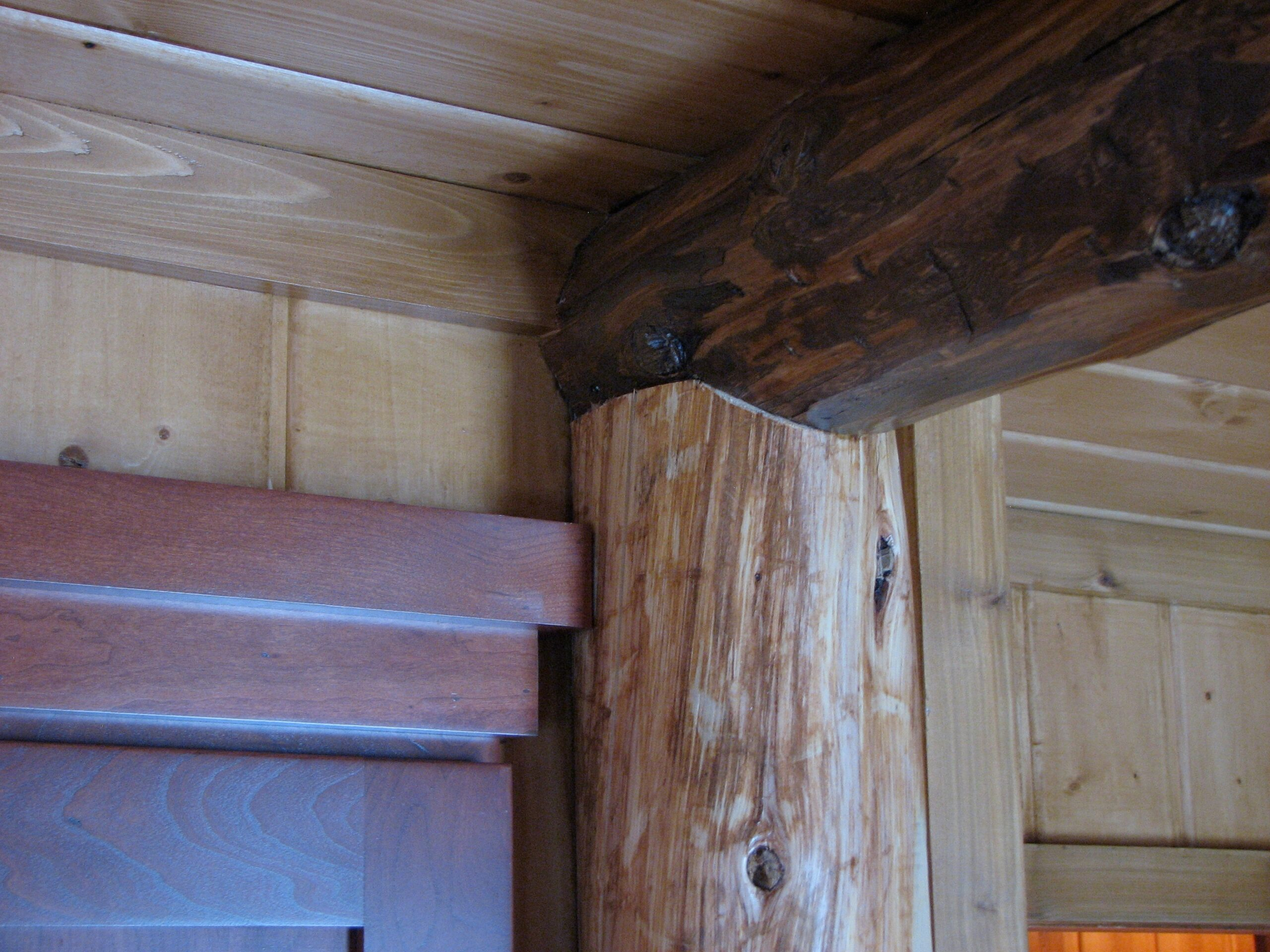 Downes Cabin Custom Kitchen Wood Beams
