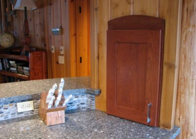 Downes Cabin Custom Kitchen Wood Finishes and Countertop