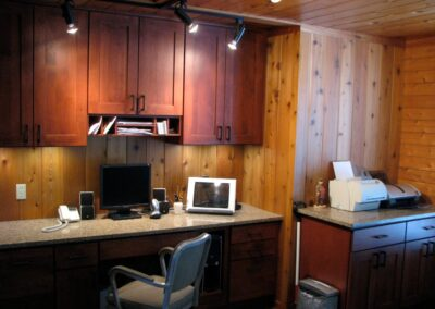 Downes Cabin Custom Office Wood Finishes
