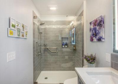 GroveBluff Bathroom and Tiled Walk in Shower