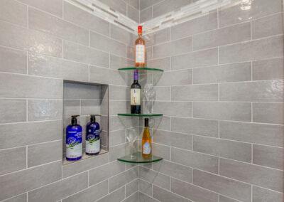 GroveBluff Shelving in Tiled Shower
