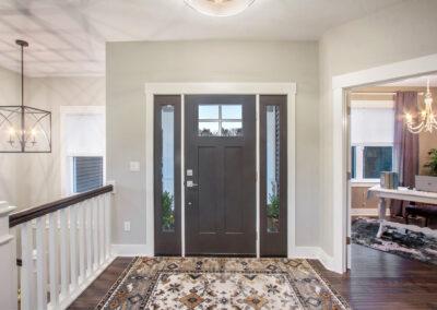 Custom Home Front Door Entryway into Living Area