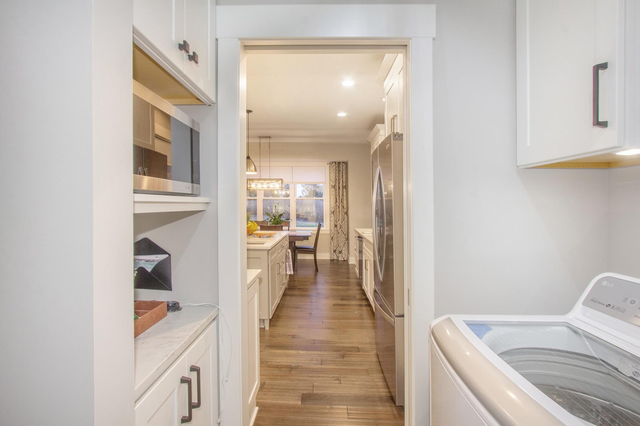 Custom Home Laundry Room Off Kitchen