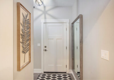 Custom Home Entry from Garage