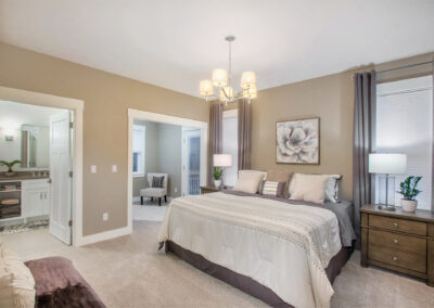Custom Home Master Bedroom and Sitting Area