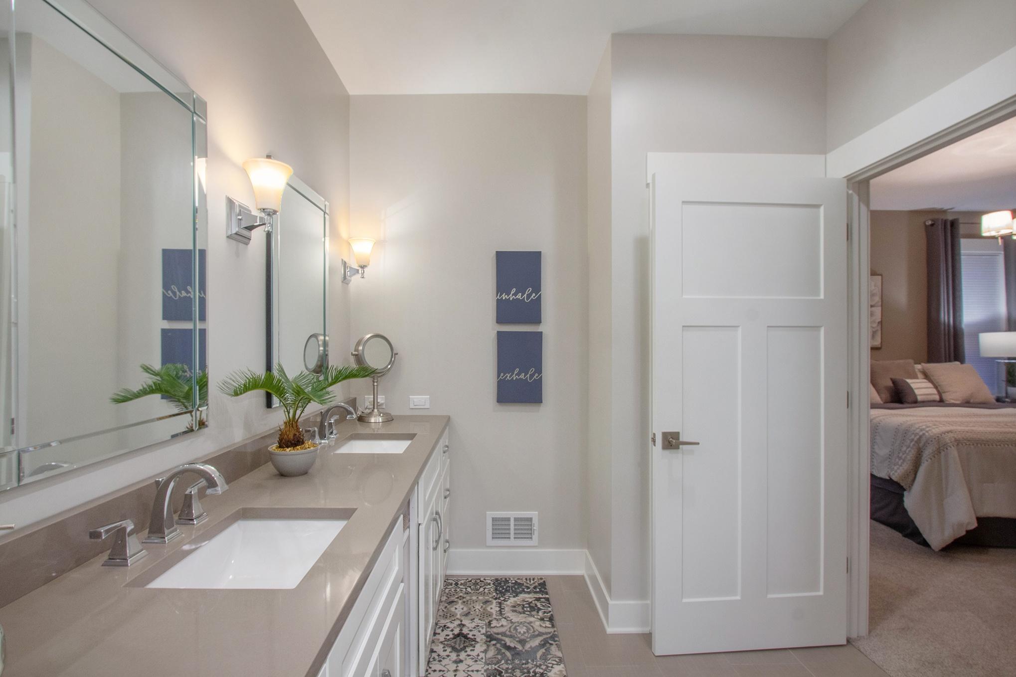 IMG_49Custom Home First Floor Master Bathroom Double Vanity