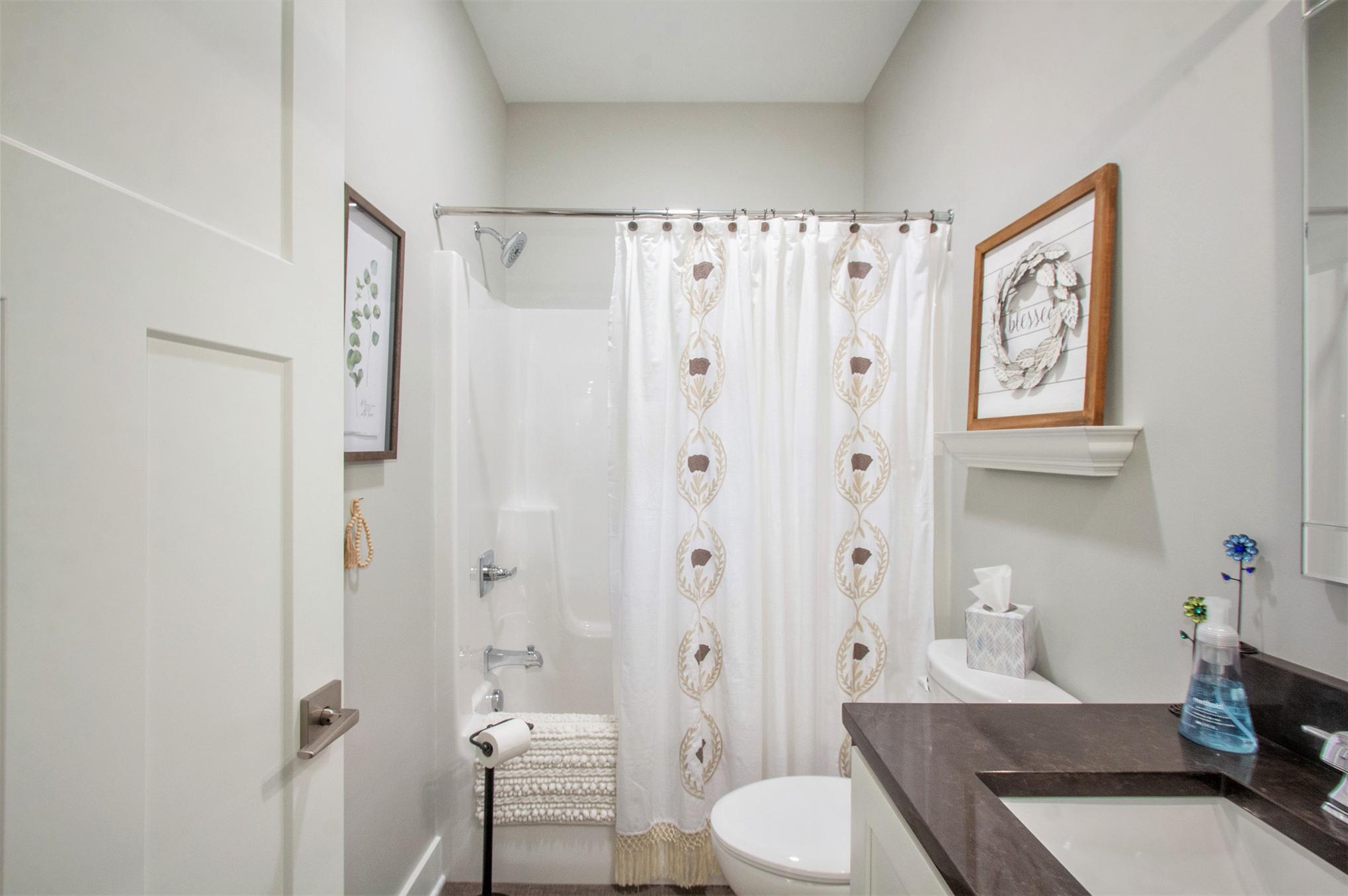 Custom Home First Floor Guest Bathroom