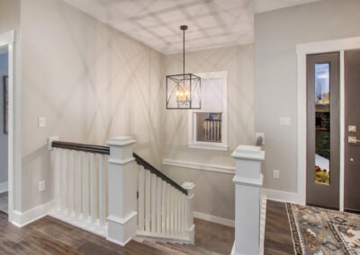 Customer Home Entryway and Front Door with Stairs to Lower Level