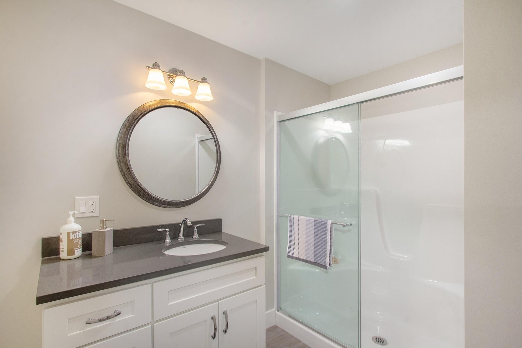 Custom Home Finished Basement Bathroom