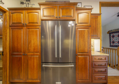 Lowell Kitchen Fridge and Cabinets
