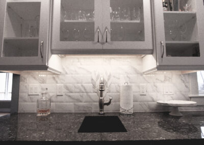 Cascade Kitchen Finish Sink and Cabinets