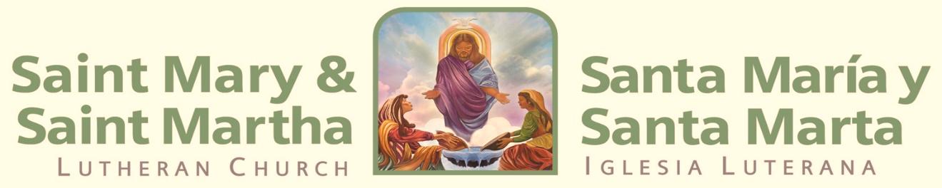 Saint Mary and Martha Header
