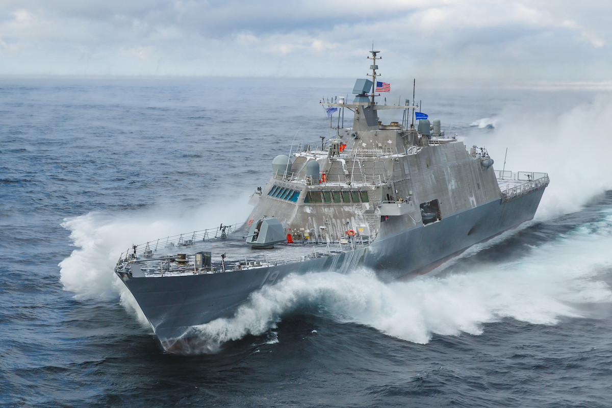 LCS 19 (St. Louis) Acceptance Trials. December 2019. Photographed by Lockheed Martin