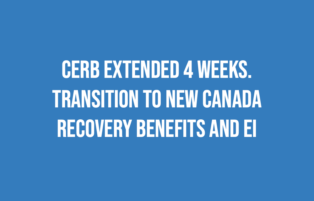CERB transitions to NEW Recovery Benefits and EI