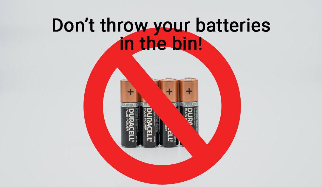 Is It Ok To Throw Batteries In The Bin?