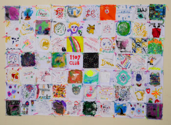 Quilt made by children and families